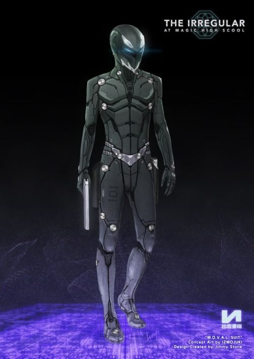 """""""M.O.V.A.L. Suit"""" from """"The Irregular at Magic High School"""" Concept Art by IZMOJUKI Design Created by Jimmy Stone"""