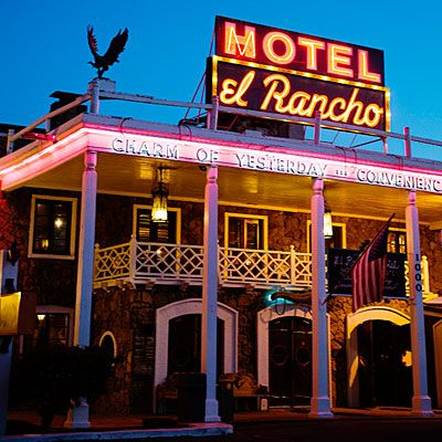 STAY HERE! El Rancho Hotel - 35 Iconic Southwest Sights - Sunset gallup, NM