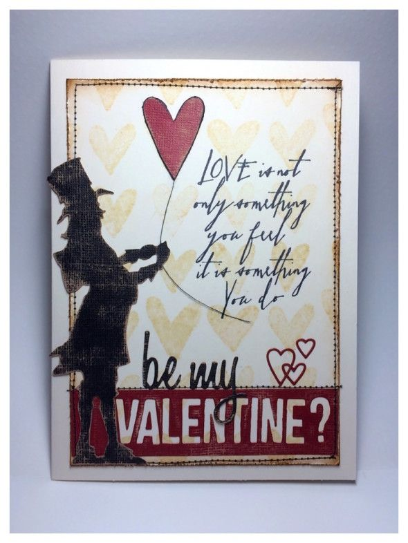 83 best images about Tim Holtz Inspired ValentineLove on – Anonymous Valentine Card