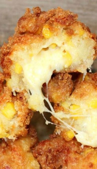 Fried Mozzarella Corn Fritters
