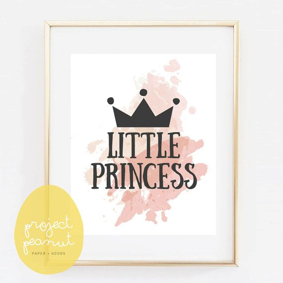 Printable Pastel Watercolour Wall Art: Little by ProjectPeanut