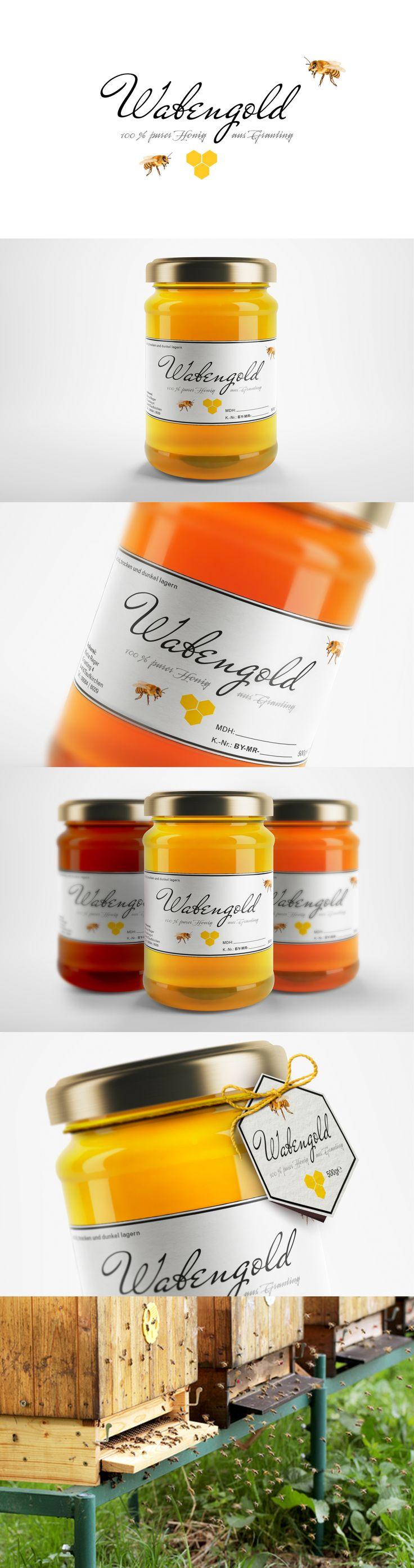 Design Honigglas Wabengold reger's Kommunikationsagentur