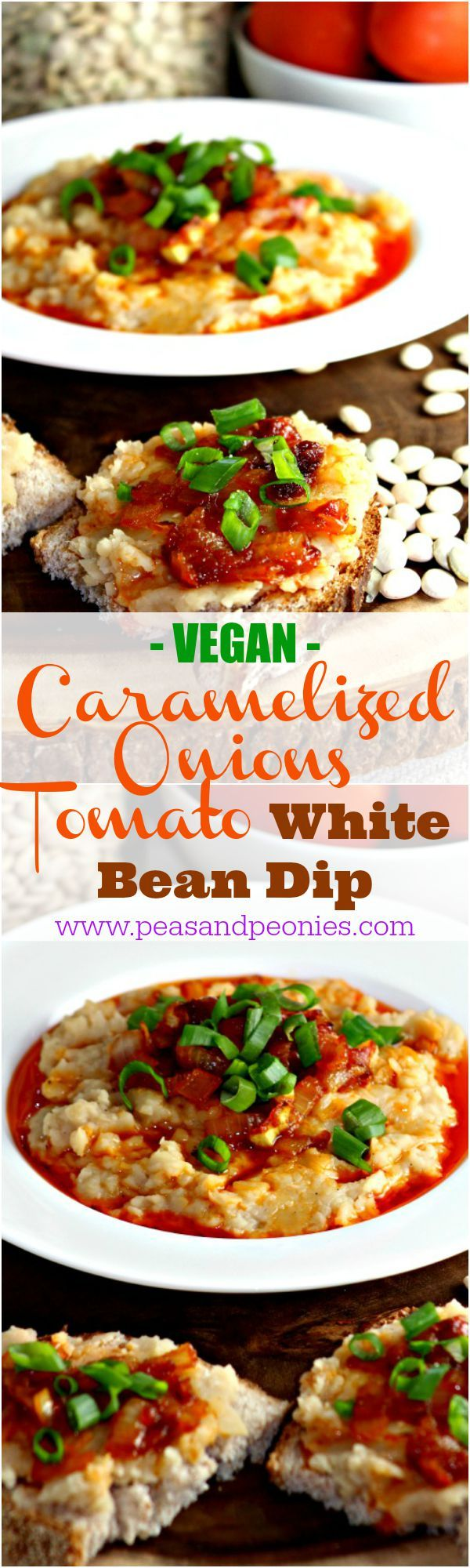 White Bean Dip with Caramelized Onions and Tomato Sauce - Peas and ...