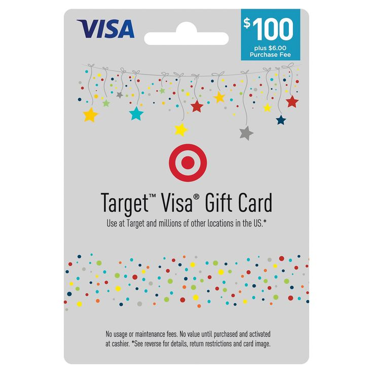 The Target Visa® Gift Card is an easy to use gift card. Safer than cash and more flexible than gift certificates, Target Visa Gift Cards are available in $25, $50 and $100 denominations (see * exceptions below). Enjoy using your Target Visa Gift Cards at millions of locations nationwide where Visa debit cards are accepted. - Teen