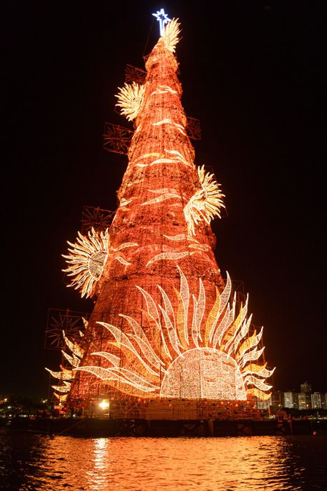 Top 10 Christmas trees from all over the world - Photo 8 | Celebrity news in hellomagazine.com Rio de Janeiro, Brazil