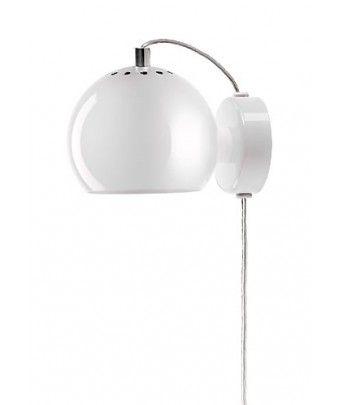 Kinkiet Ball - biały połysk