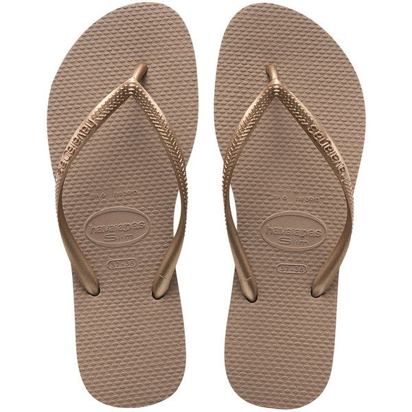 Women's Sand Grey/Light Golden You Flip Flop | Havaianas ($40) ❤ liked on Polyvore featuring shoes, sandals, flip flops, golden sandals, gray flip flops, golden shoes, grey flip flops and havaianas
