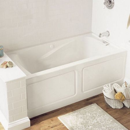 Best 25 long narrow bathroom ideas on pinterest narrow for How long is a standard bathtub