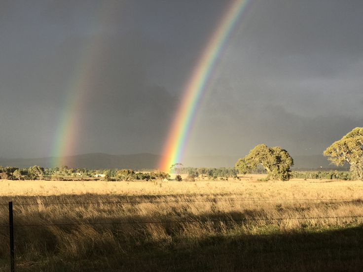 Magnificent Double Rainbow, Stonehaven, Victoria, Australia