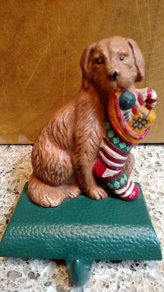 MIDWEST Eddie Bauer Dog Solid Cast Iron CHRISTMAS STOCKING Holder Hanger #A #MidwestEddieBauer