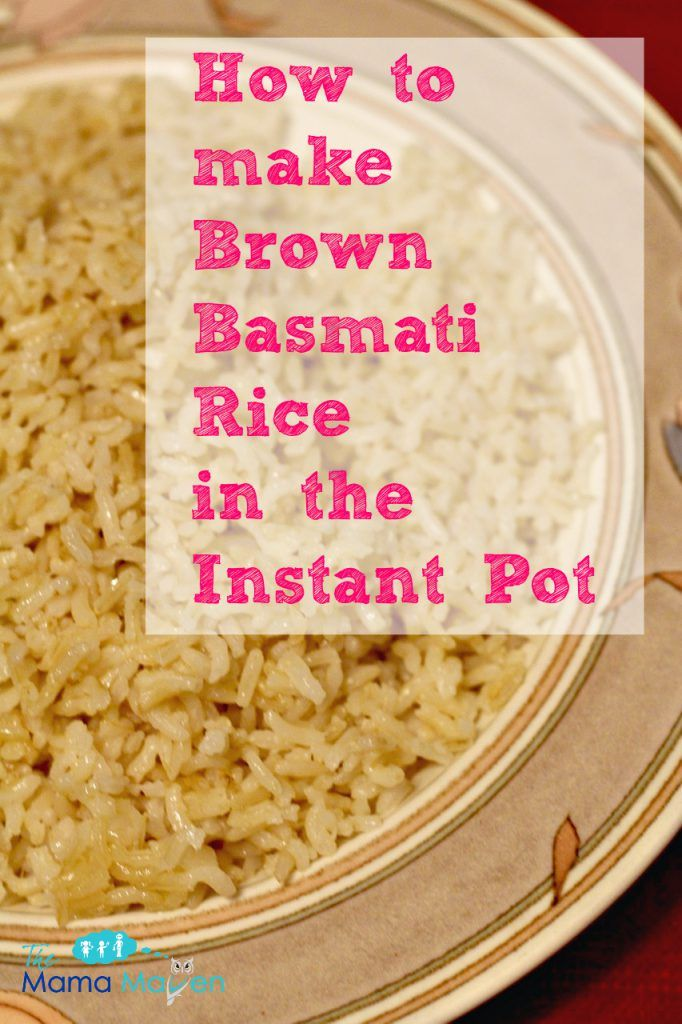 How to Make Brown Basmati Rice | The Mama Maven Blog