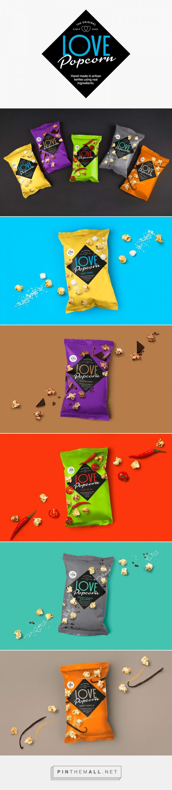 Love Popcorn | Branding & Packaging Design | Designed by Robot Food | www.robot-food.com