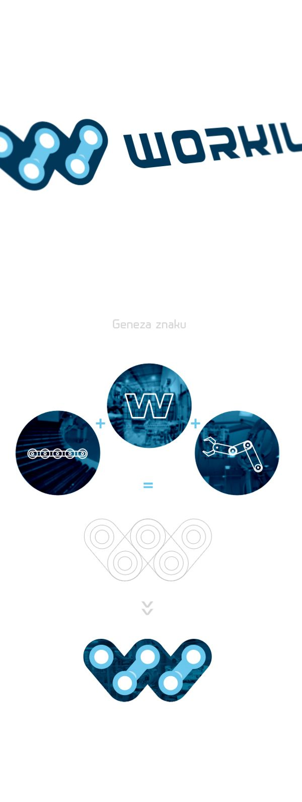 Workil Robotics - logo for SALE by Karol Sidorowski, via Behance