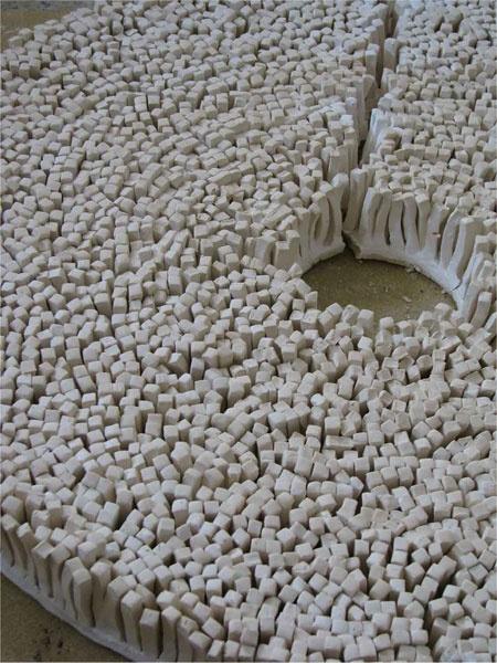 Anna Klimešová, Circle, 2007, diameter 55 cm, stoneware #clay #sculpture #ring