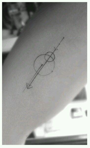 Simple but beautiful geometric tattoo.