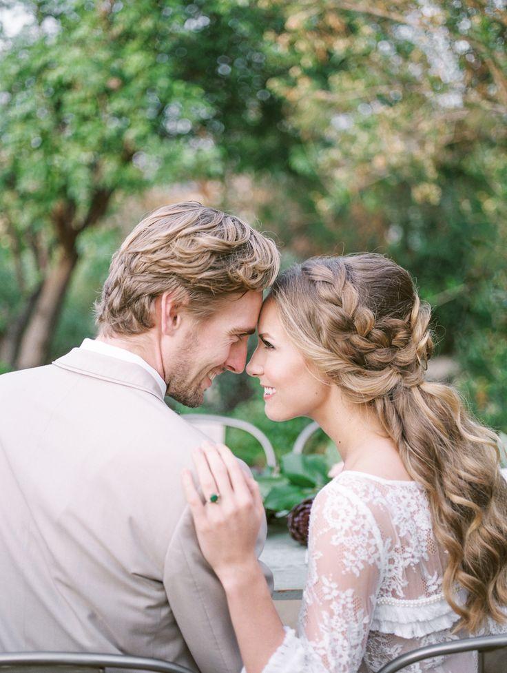 Hair + Makeup: Stacey Alyson Makeup - http://www.stylemepretty.com/portfolio/stacey-alyson-makeup Photography: Savan Photography  - www.savan-photography.com   Read More on SMP: http://www.stylemepretty.com/california-weddings/2016/05/25/spring-love-community-garden-wedding-inspiration/