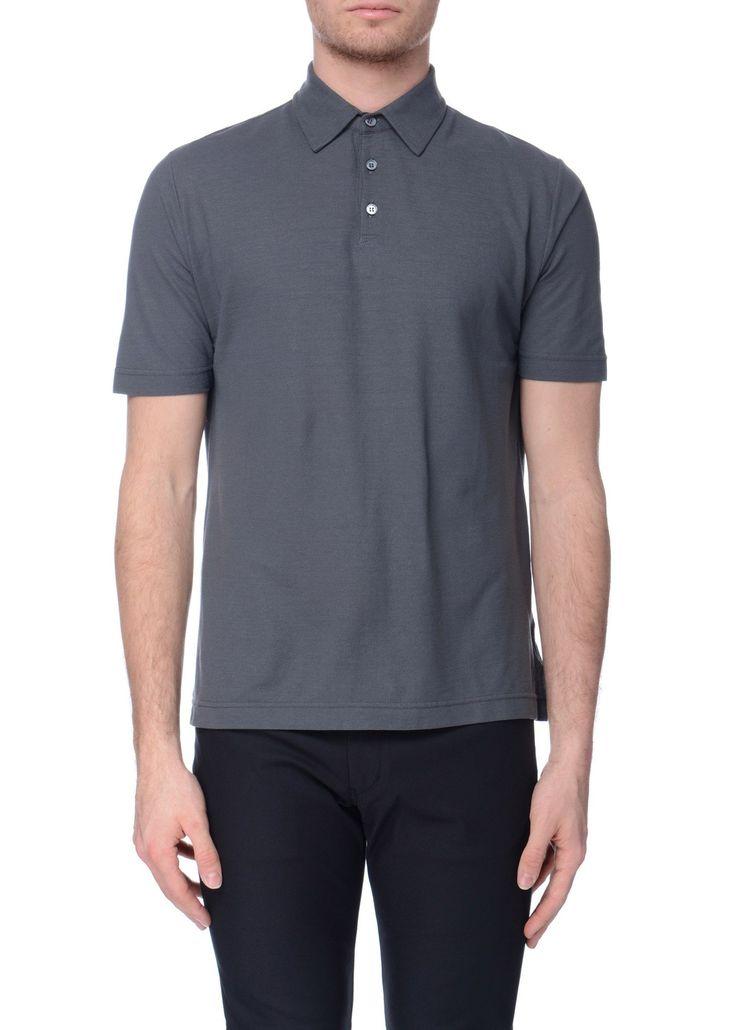Zanone - SS17 - Menswear // Grey polo shirt in cotton