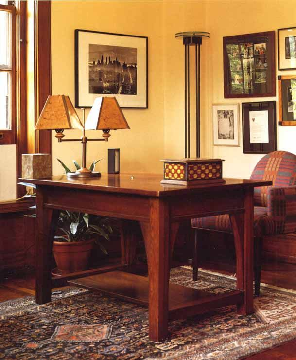 craftsman desks oak desk library table wood furniture furniture ideas