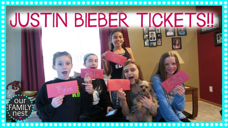 TREASURE HUNT LEADS TO.... JUSTIN BIEBER CONCERT TICKETS!! - YouTube