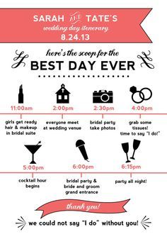 1000 ideas about wedding day itinerary on pinterest wedding day ...