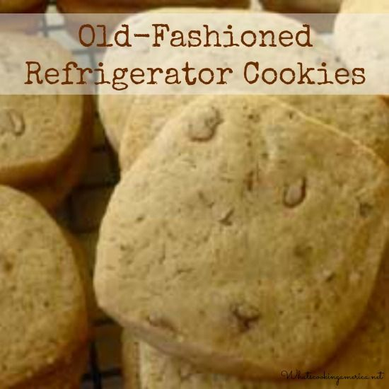 Old-Fashioned Refrigerator Cookies Recipe  | whatscookingamerica.net  |  #refrigerator #cookies #christmas