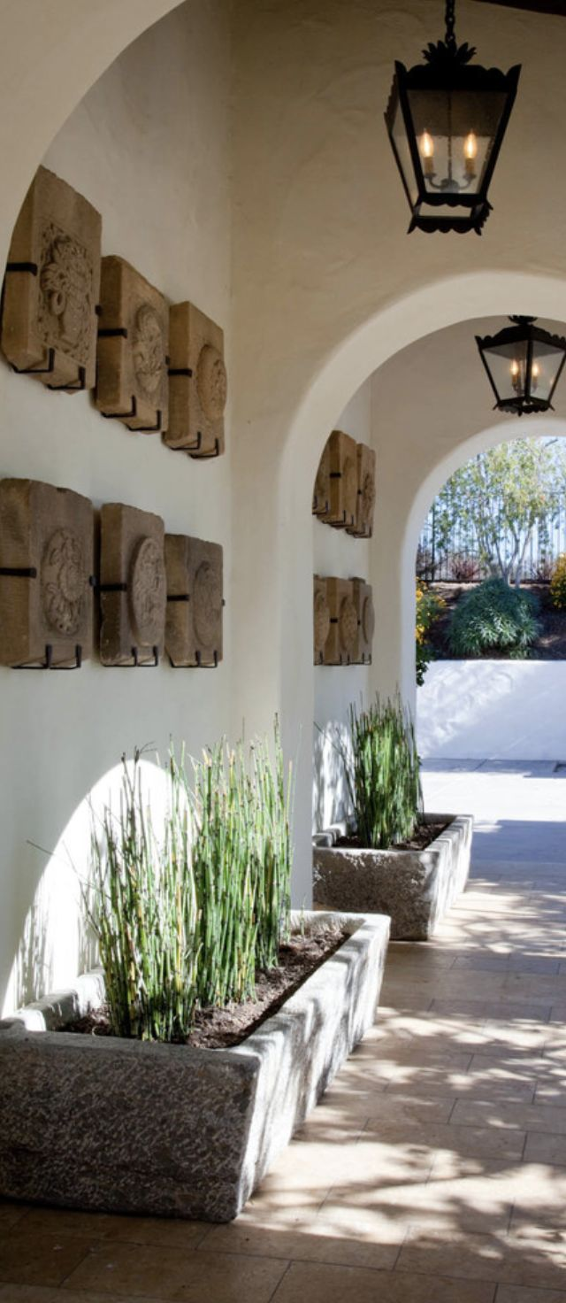 tuscan courtyard entrance