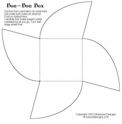 Free printable templates for gift boxes, bags and things
