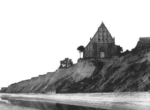 Church in Trzęsacz in 1870