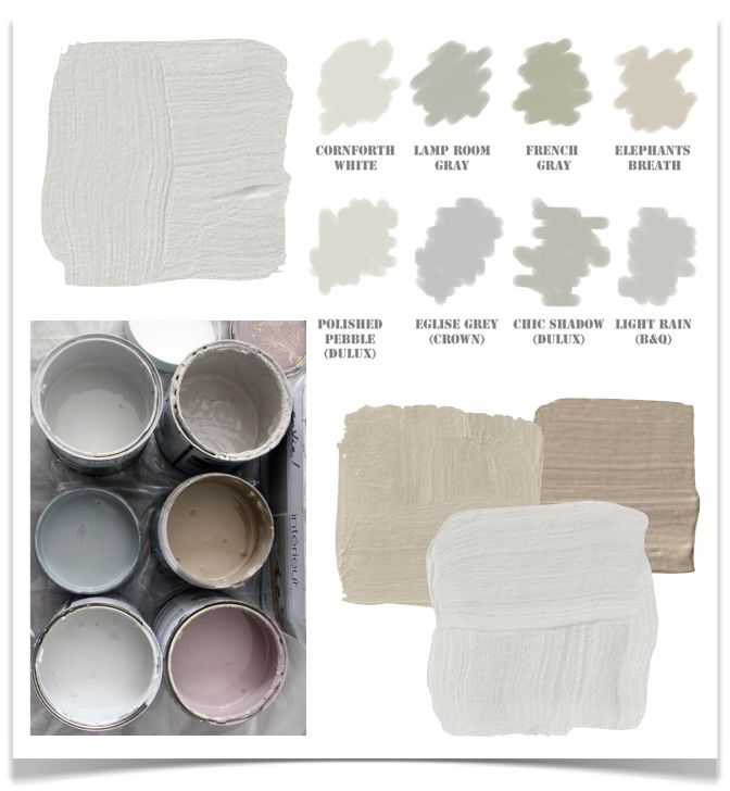 Great blog post 10 Rooms: the difference between gray, grey, warm grey, beige, greige, and taupe