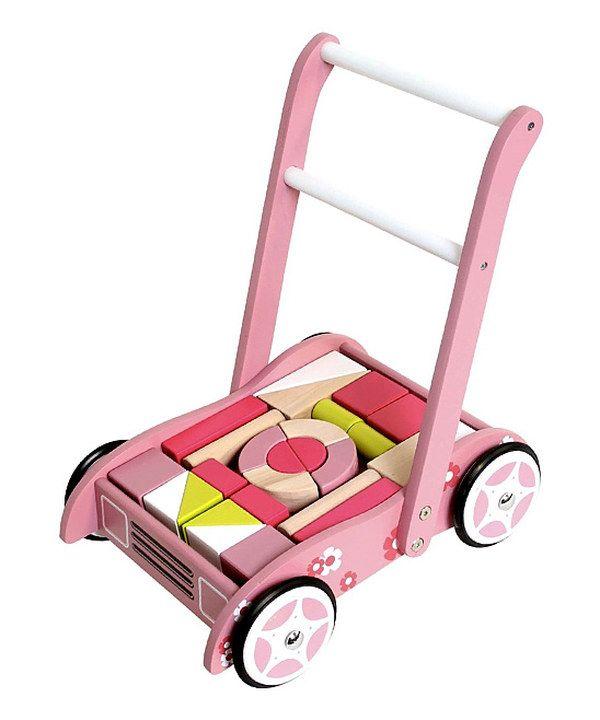 This Pink Pram & Block Set by ZÜM is perfect! #zulilyfinds