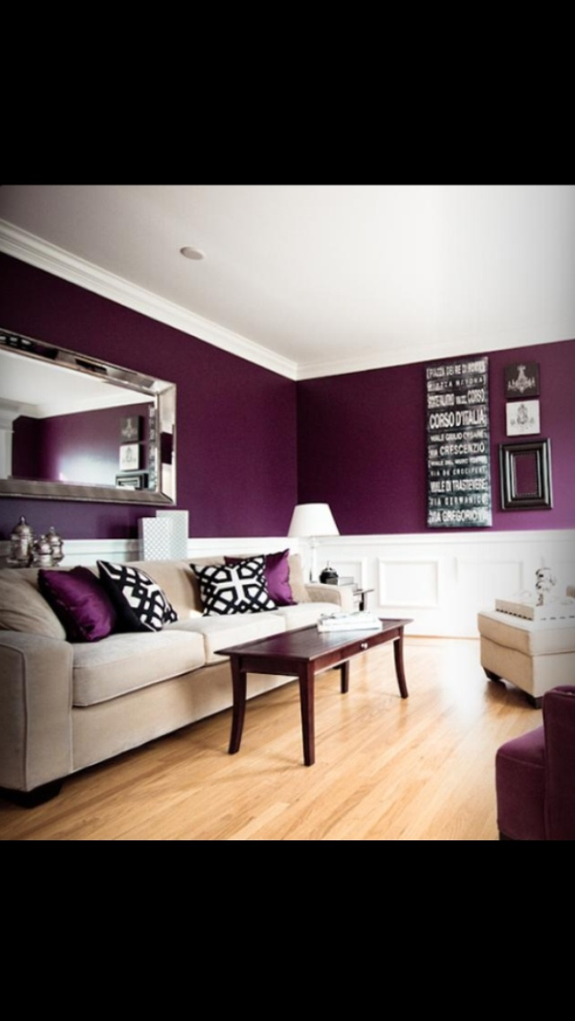 Purple living room decorating pinterest paint colors Purple living room color schemes