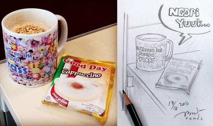 #ngopi yuk @gooddayid     #cappucino #coffee #goodday #kopigoodday #pagi #morning #morningcoffee #iseng #sketch #sketching #pencil #sketsa #sketsapensil #pencilsketch #menggambar #gambar #ilustrasi #ilustration #drawing #art #artwork #seni #senirupa #belajar #belajargambar #practice #prasssketch