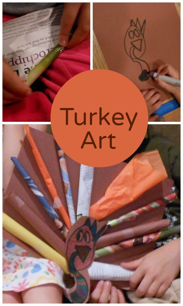 Thanksgiving art - easy and adorable!