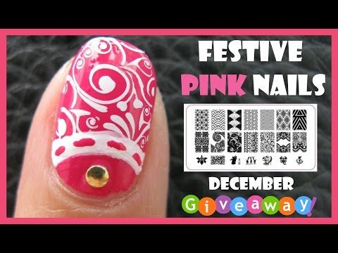 220 best meliney nail art design videos images on pinterest art festive pink nails and december giveaways meliney stamping nail art design tutorial youtube prinsesfo Gallery