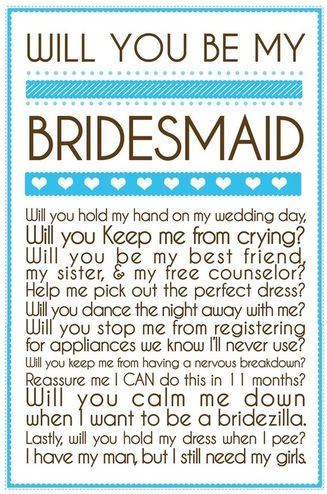 Great ways to ask your girls to be your bridesmaids #PreppyPlanner