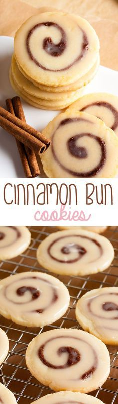 What's better than a cinnamon bun? Cinnamon bun cookies! Soft, tender, and packed with cinnamon flavour.