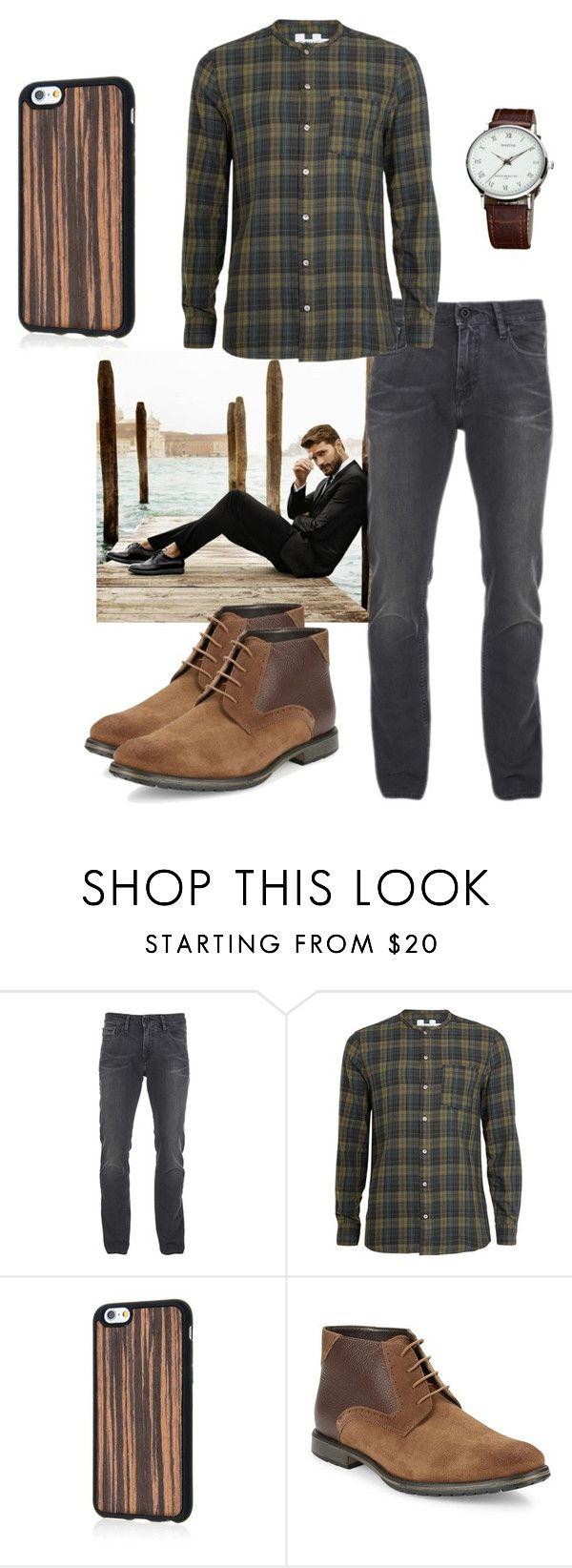 """Rustic"" by empirecase ❤ liked on Polyvore featuring Calvin Klein, Topman, BLACK BROWN 1826, rustic, men's fashion and menswear"