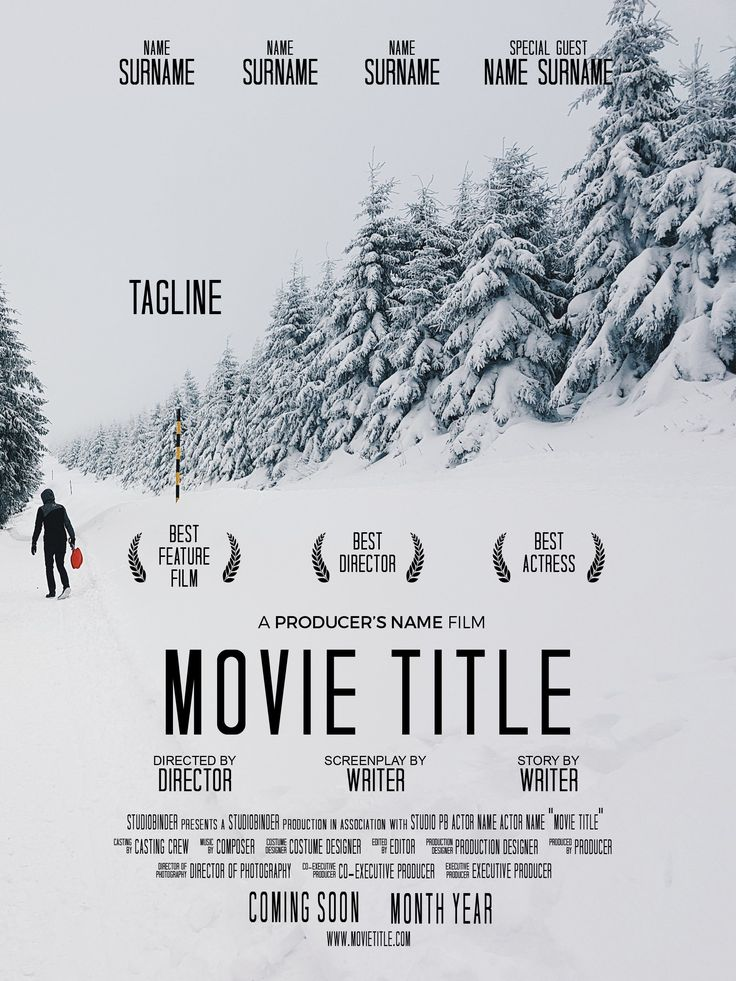 Movie Poster Template - Light - With Image