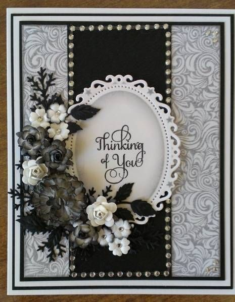 Black and White Challenge Card by Dragonfly Cards - Cards and Paper Crafts at Splitcoaststampers