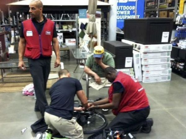Veteran's Wheelchair Falls Apart in Hardware Store, Employees Fix It Immediately 40 years ago, Michael Sulsona lost his legs to a landmine in Vietnam. For two years, he's been trying to get the Veterans' Administration to provide him with a replacement for the rickety old wheelchair that he's been using. The old chair finally collapsed while Sulsona and his wife were in a Lowe's hardware store on Staten Island, New York. Sulsona describes what happened next: