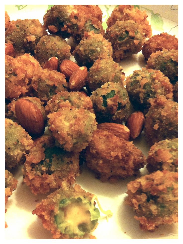 Fried Stuffed Olives! | Snacks | Pinterest
