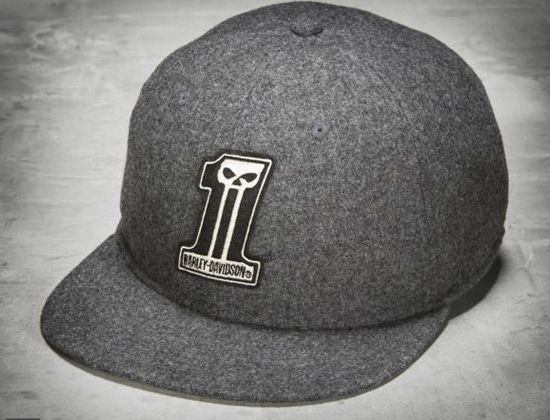 Grey Wool 59fifty Fitted Cap By Harley Davidson X New Era