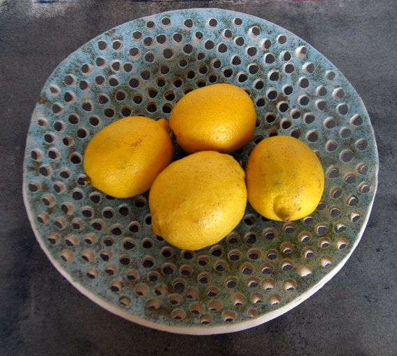 Large Fruit Bowl-Ceramics And Pottery-Ready To Ship by Vsocks