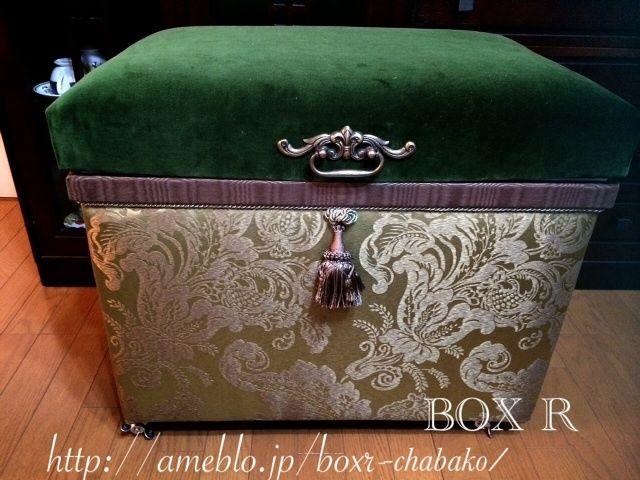 インテリア茶箱レッスンー飾り縫いに挑戦 の画像|BOX R インテリア茶箱、カルトナージュ 教室