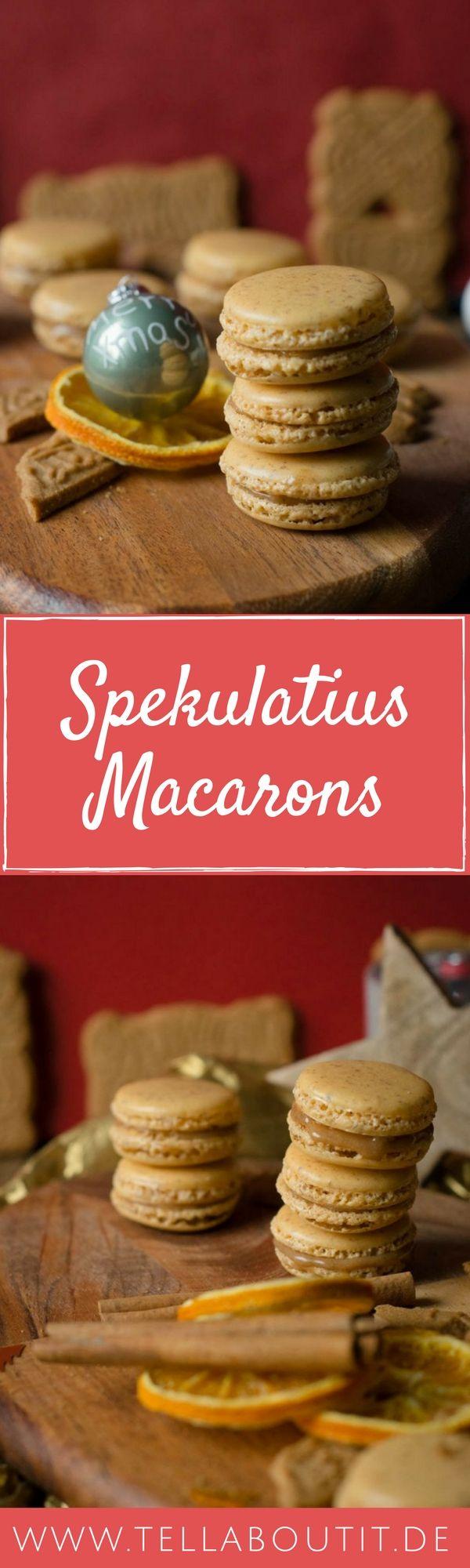 Spekulatius Macarons sind das perfekte Geschenk im Dezember und schmecken so lecker