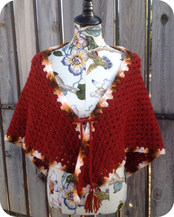 Vintage Poncho, Vintage Shawl, Vintage Cape, Handmade, Batwing, Poncho, Cape, Shawl, Holiday, Thanksgiving, Winter, Fall, Crochet, VHIS Team by AddisonsAtticAZ on Etsy