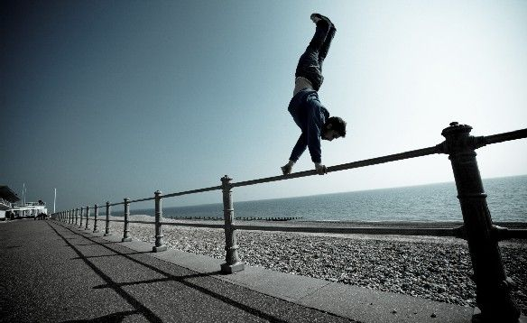 There are no obstacles, only possibilities. Parkour ...