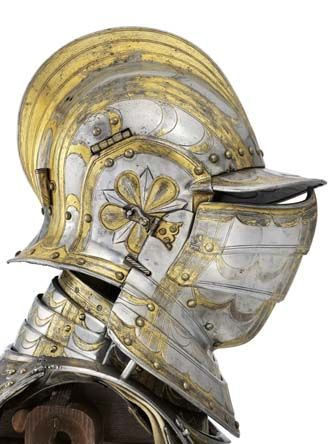 During the reigns of Mary and Elizabeth I, the royal workshop at Greenwich made armour of world class for the nobility of England.     (Field armour of William Somerset, earl of Worcester, about 1570)