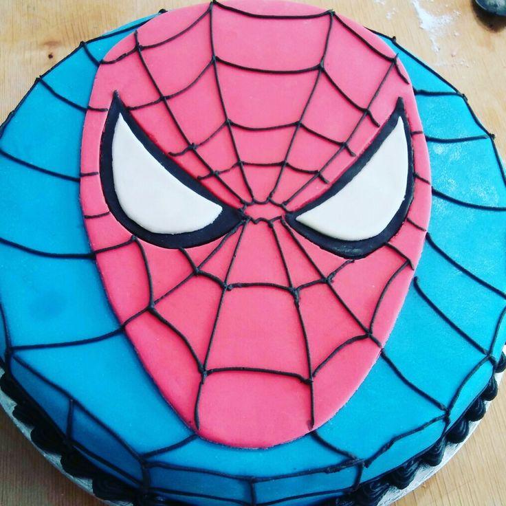 Spiderman,collage,pasta di zucchero, ghiaccia reale.