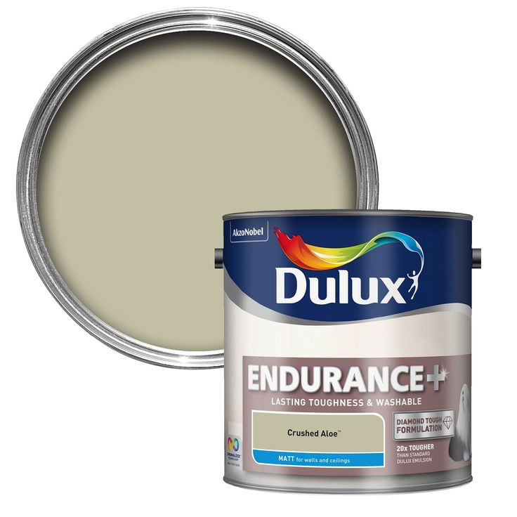 Dulux Endurance Crushed Aloe Matt Emulsion Paint 2.5L | Departments | DIY at B&Q